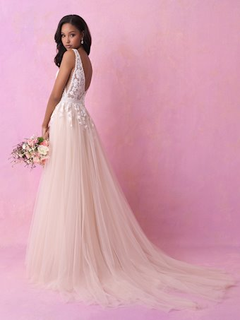 Allure Romance Style 3152 Sweet and Sexy A-line Wedding Dress with Beaded Trim