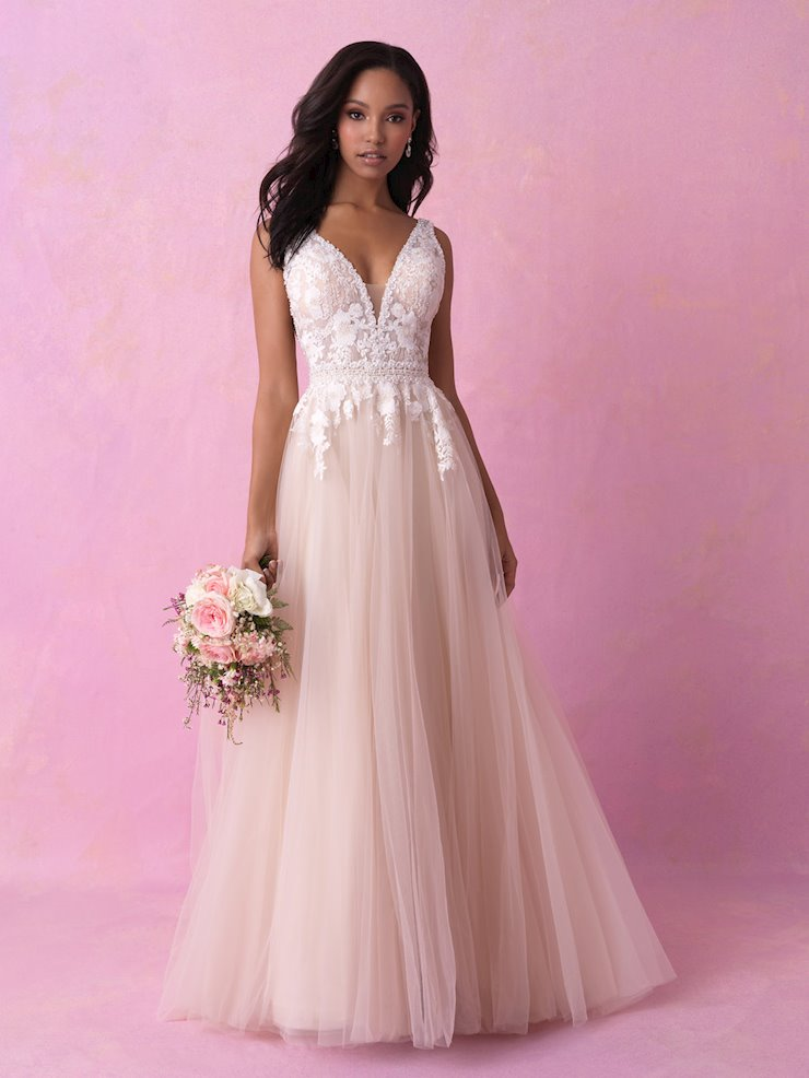 Allure Romance Style #3152 Sweet and Sexy A-line Wedding Dress with Beaded Trim  Image