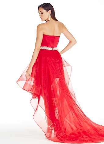 Ashley Lauren Corseted High-Low Evening Dress