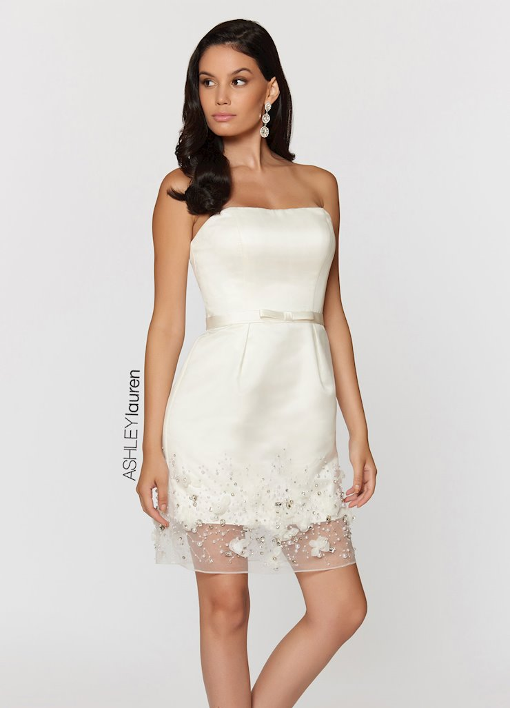 Ashley Lauren Rosette Accented Cocktail Dress