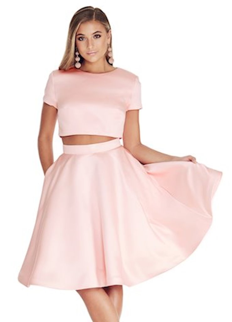 Ashley Lauren Two Piece A-Line Cocktail Dress