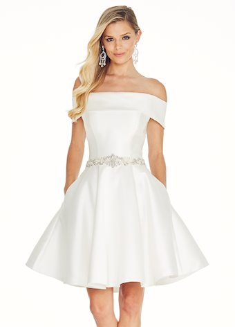 Ashley Lauren Mikado Off Shoulder Cocktail Dress
