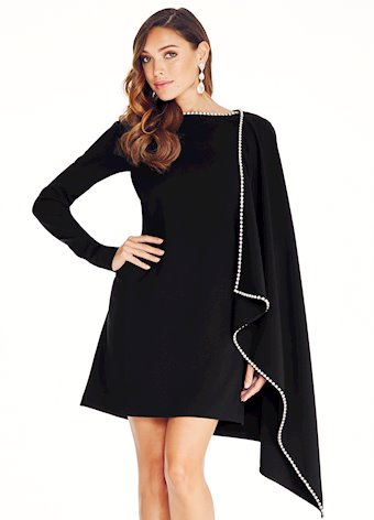 Ashley Lauren Crepe Cocktail Dress