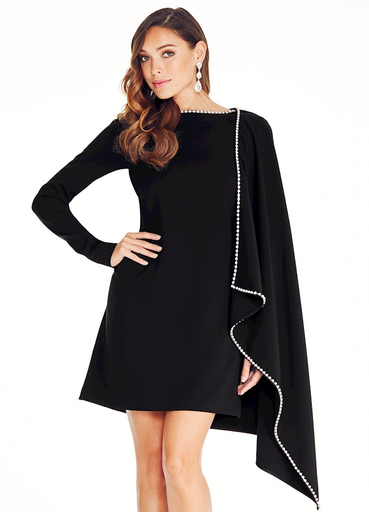 Ashley Lauren Crepe Cocktail Dress