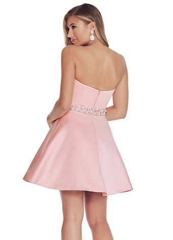 Ashley Lauren A-Line Cocktail Dress with Beaded Belt