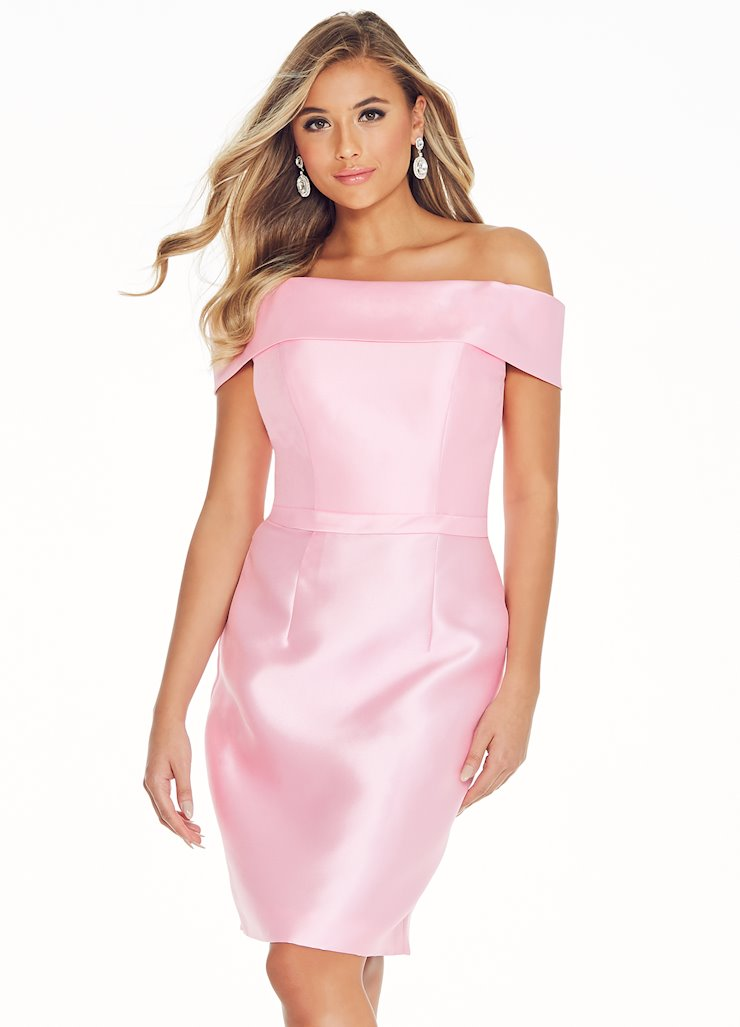 Ashley Lauren Off Shoulder Mikado Cocktail Dress