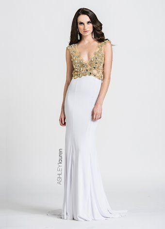 Ashley Lauren Beaded Jersey Evening Dress