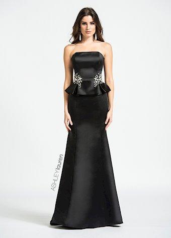 1079 Beaded Peplum Evening Dress