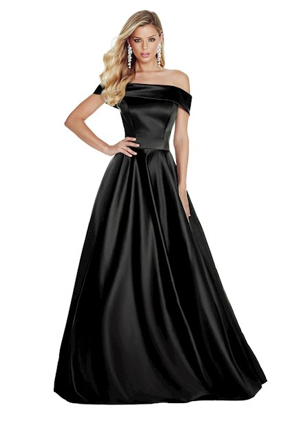 Ashley Lauren Off Shoulder Evening Ball Gown