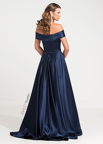 Ashley Lauren Off Shoulder Evening Ball Gown