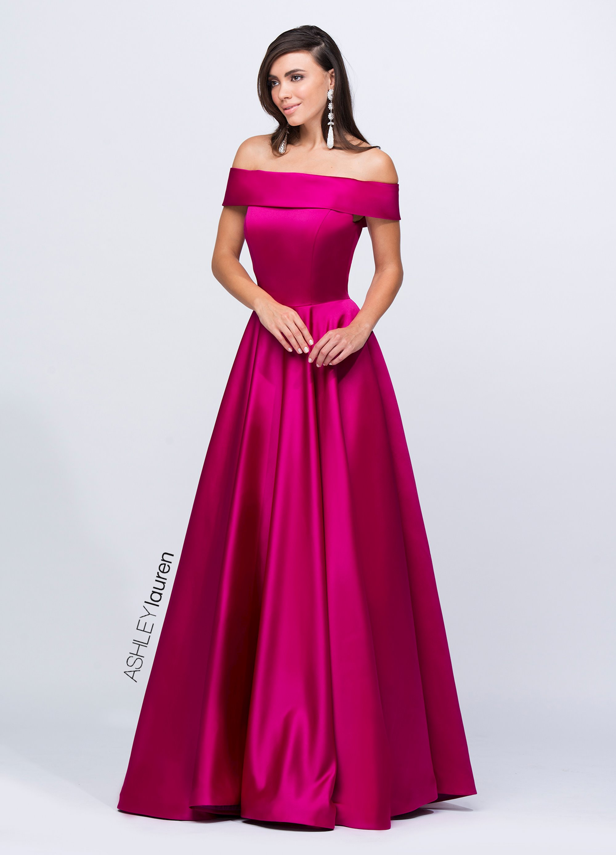 074171d83cf5 Ashley Lauren Off Shoulder Evening Ball Gown. Double tap to zoom