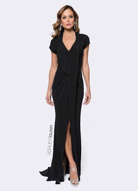 Ashley Lauren Draped Jersey Evening Dress