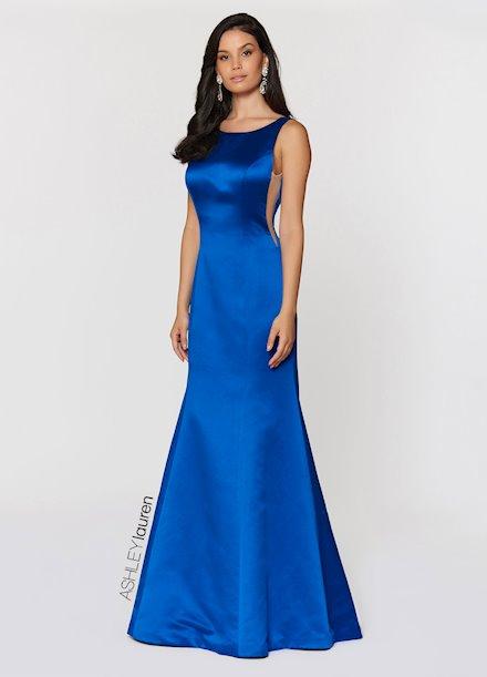Ashley Lauren Illusion Cut Out Evening Dress