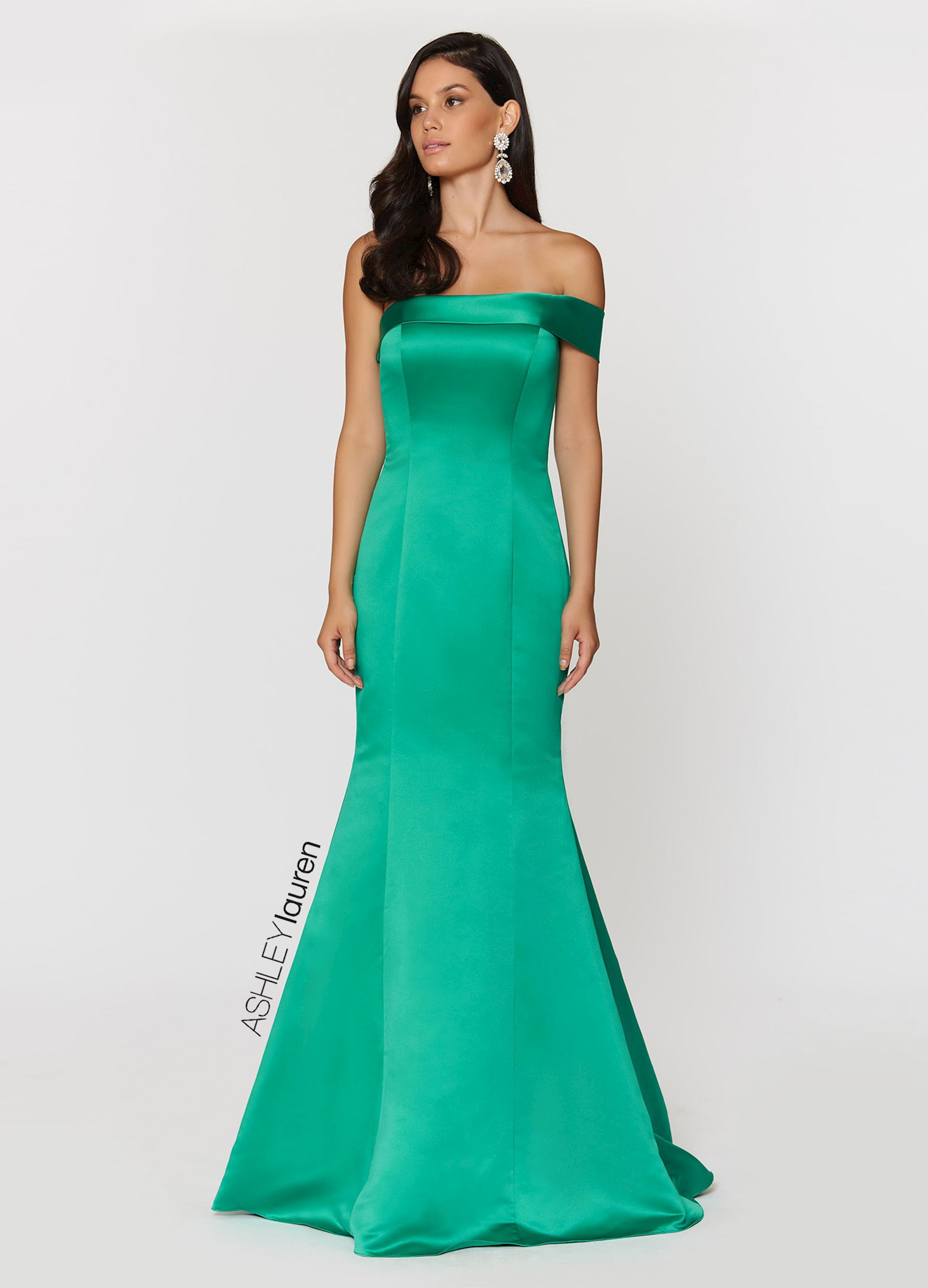62f4306faae ... Shoulder Satin Evening Dress. Double tap to zoom