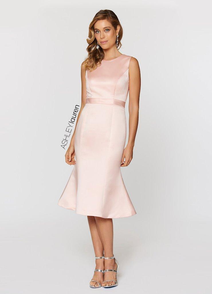 Ashley Lauren Tea Length Evening Dress