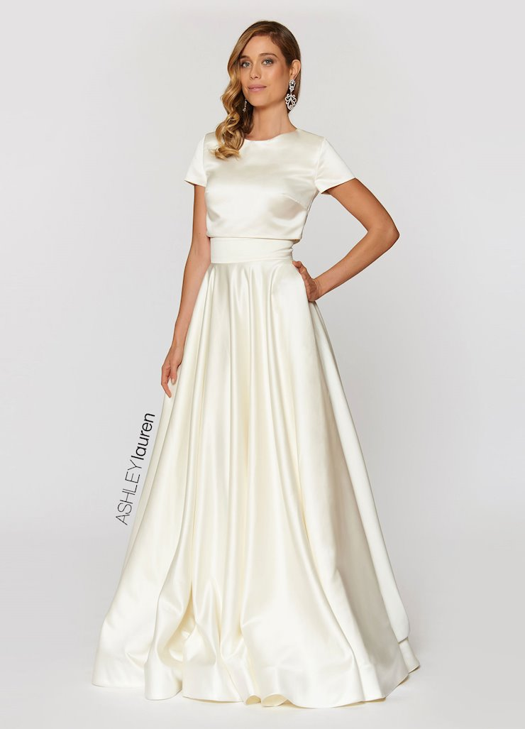 Ashley Lauren Two Piece Ball Gown