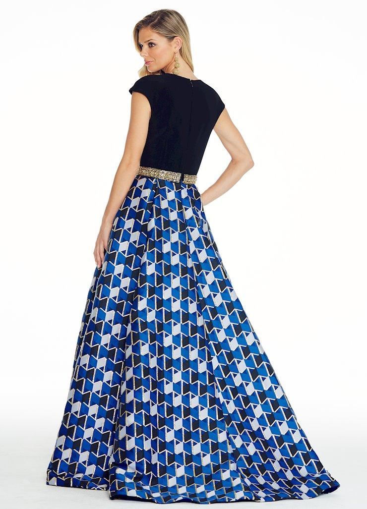 Ashley Lauren - Royal Blue Geometric Ball Gown | ASHLEYlauren