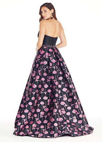 Ashley Lauren Metallic Rose Brocade Ball Gown