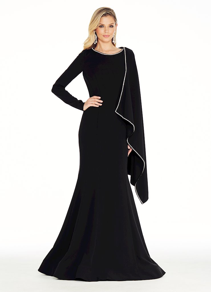Ashley Lauren Crepe Evening Dress Image