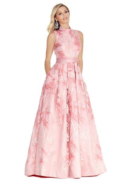 Ashley Lauren A-Line Brocade Evening Dress