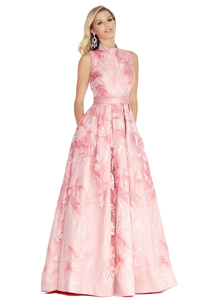 Ashley Lauren A-Line Brocade Evening Dress Image
