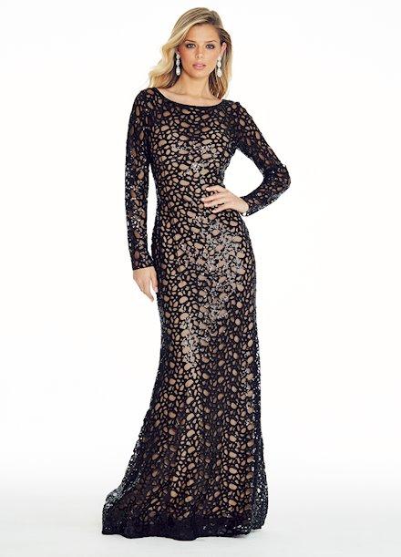 Ashley Lauren Sequin Evening Dress