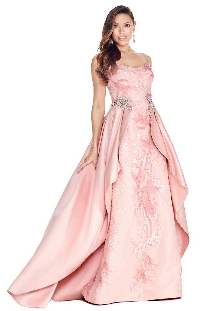 Ashley Lauren Brocade Evening Dress with Overskirt