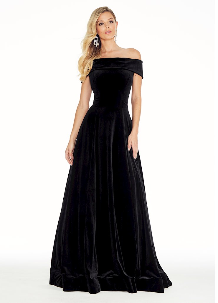 Ashley Lauren Off the Shoulder Velvet Ball Gown Image