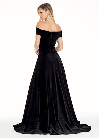 Ashley Lauren Off the Shoulder Velvet Ball Gown