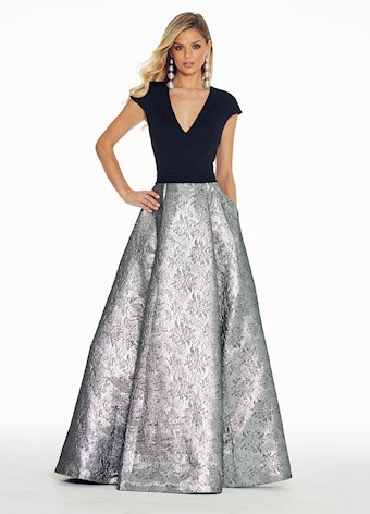1308 Pewter Ball Gown