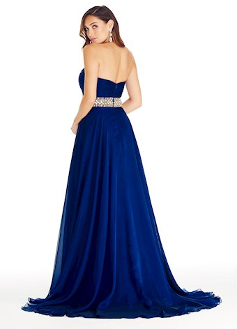 1324 Pleated Chiffon Evening Dress