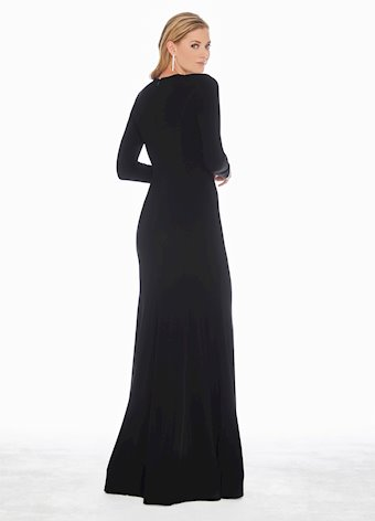 1331 Crystal Accented Jersey Evening Dress