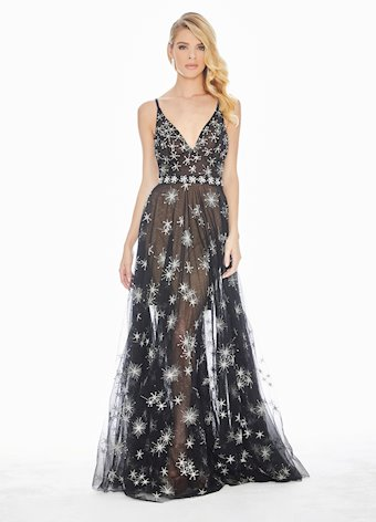 Ashley Lauren Romantic Star Evening Dress