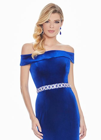 Ashley Lauren Velvet Fit & Flare Evening Dress