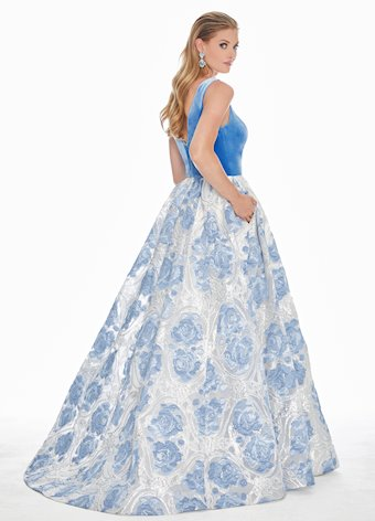 Ashley Lauren Metallic Baroque Ball Gown