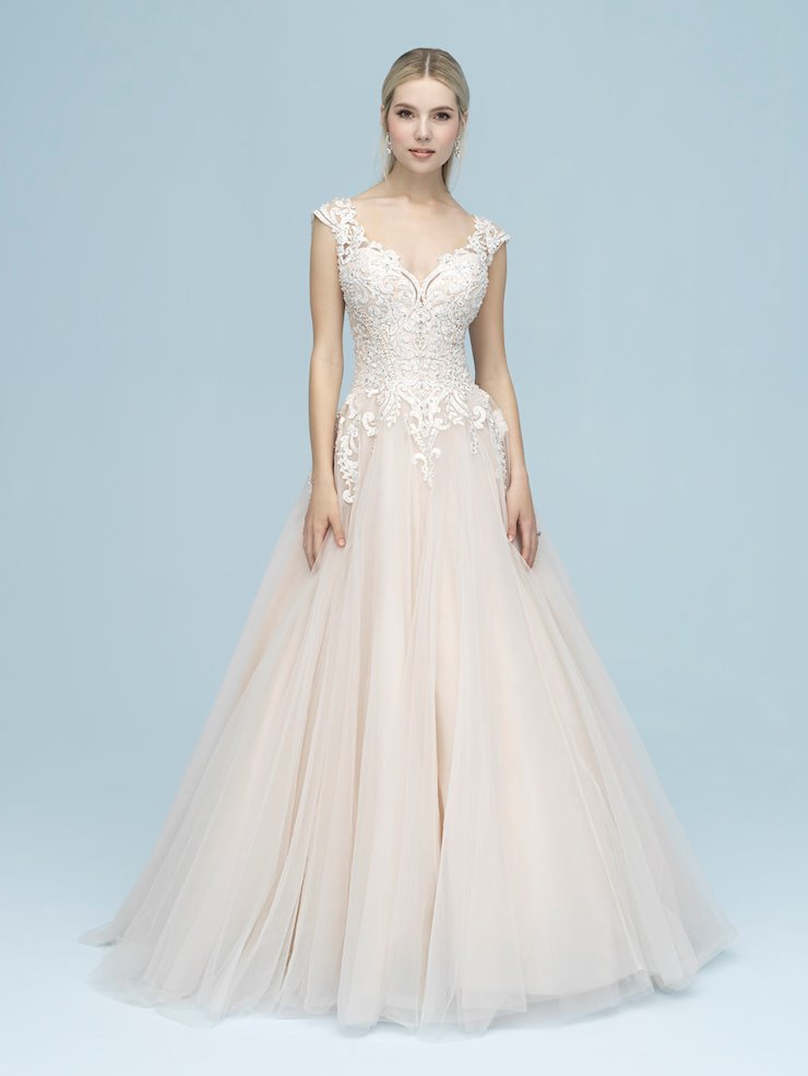 Allure Style #9606 Sparkle Tulle Ballgown Wedding Dress with Wide Straps  Image