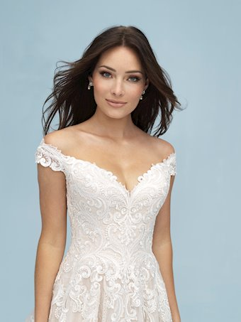 Allure Style #9619 Off-the-Shoulder Aline/Ballgown Wedding Dress with Embroidery