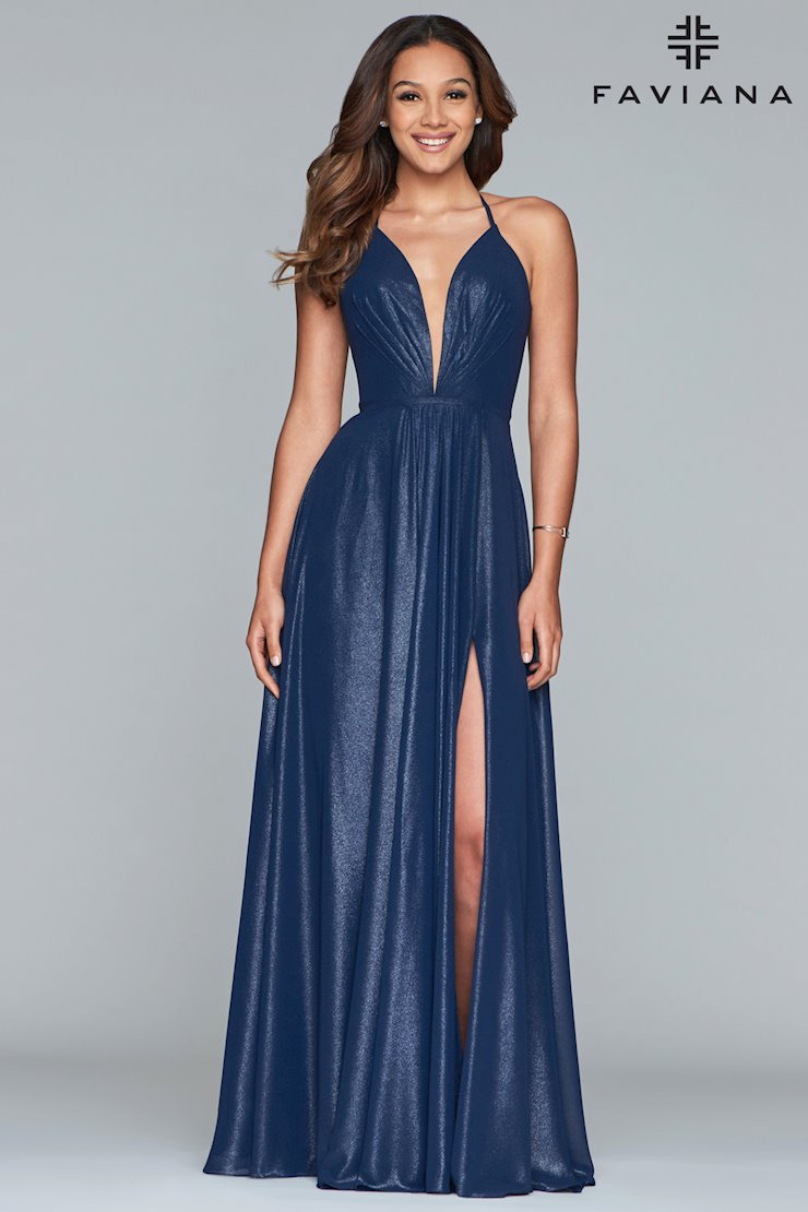 a12d5313ffd Faviana Prom Dresses Elegant Long Blue Formal Gown