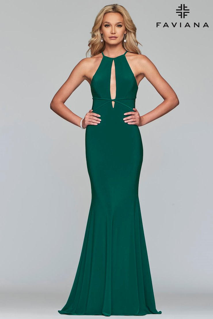 Faviana Prom Dresses Green Keyhole Bodice Dress