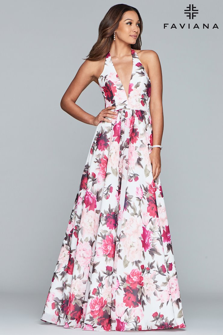 Faviana Unique Print Prom Dress
