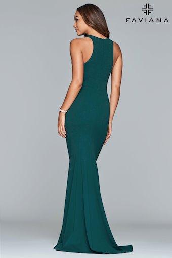 Faviana Prom Dresses V-Neck Green Halter Prom Dress