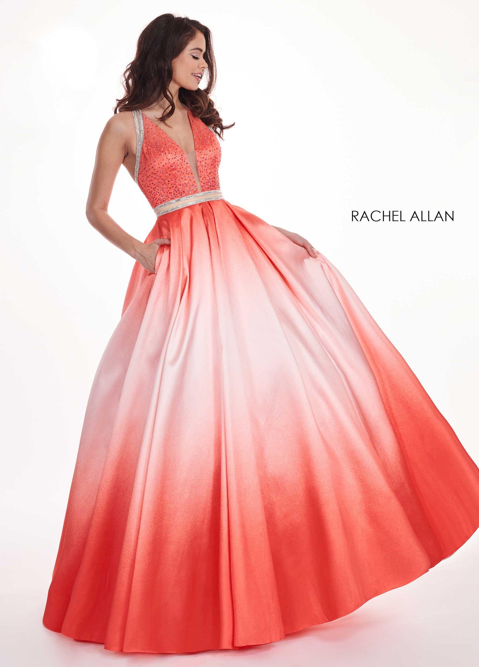 Rachel Allan 5806 WH Dress