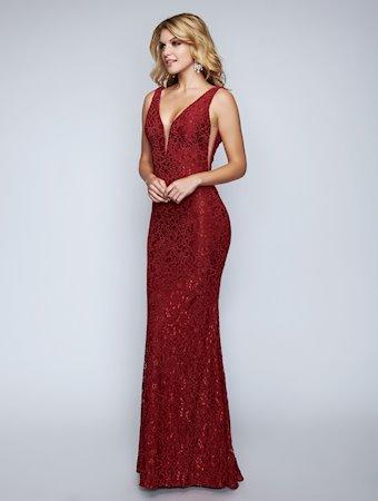 Nina Canacci Floor Length Lace Dress