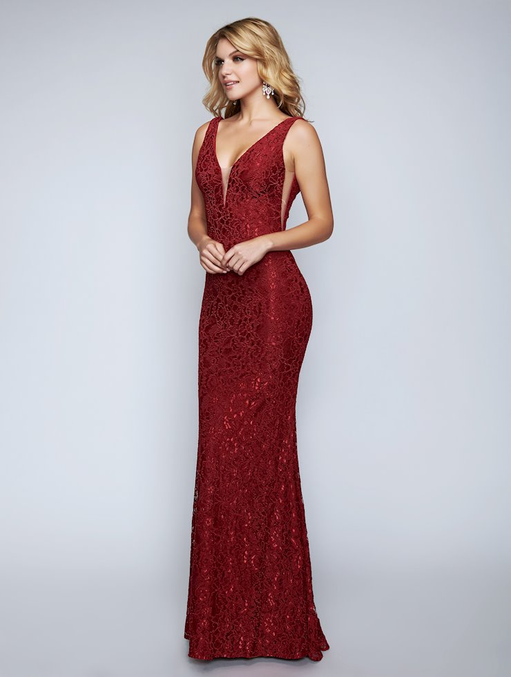Nina Canacci Floor Length Lace Dress