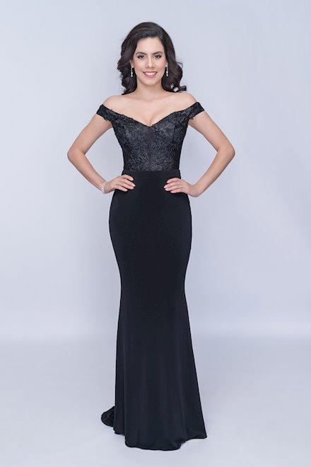 Black Off the Shoulder Formal Dress