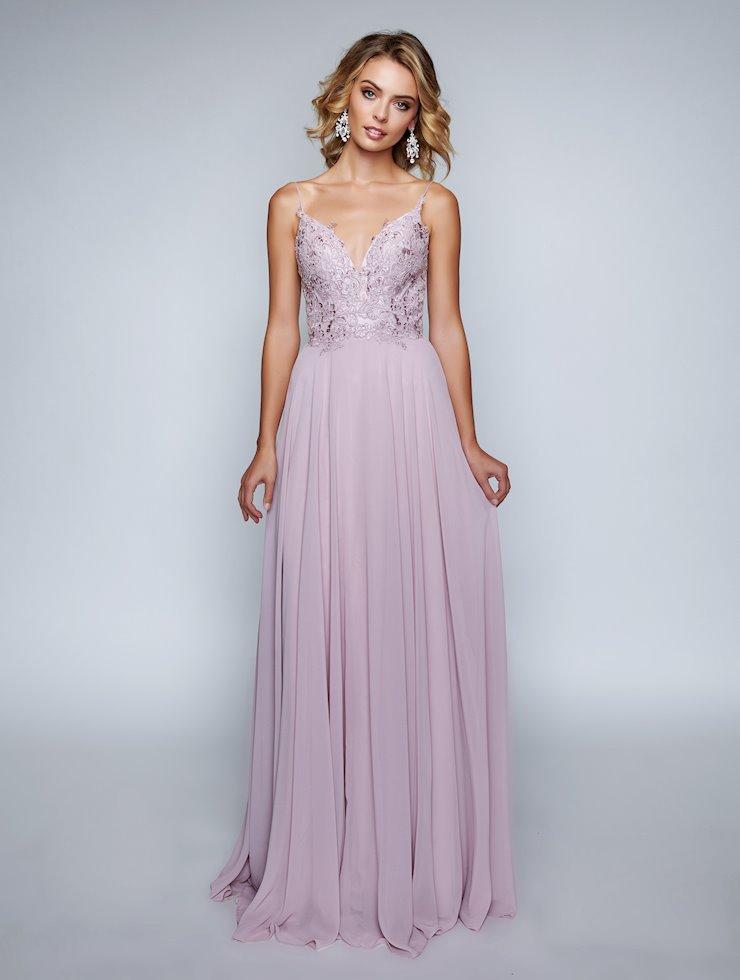 Nina Canacci Mauve Chiffon Prom Dress