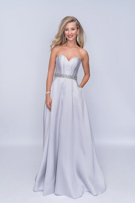 Silver A-Line Corset Dress