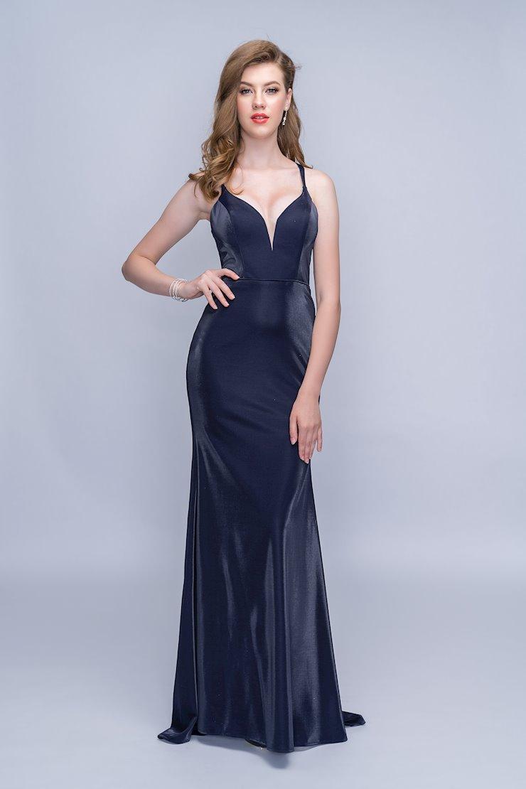 Nina Canacci Sexy Navy Blue Prom Dress