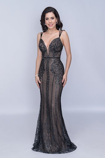Nina Canacci Long V-Neck Formal Dress