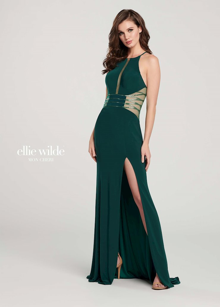 Ellie Wilde Prom Dresses High Neck Sleeveless Prom Dress